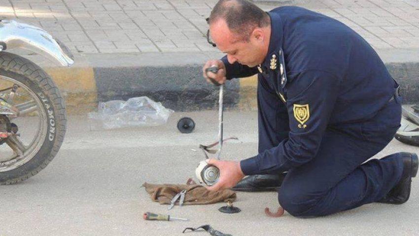 انفجار قنبلة صوتية بجوار قسم الموسكي