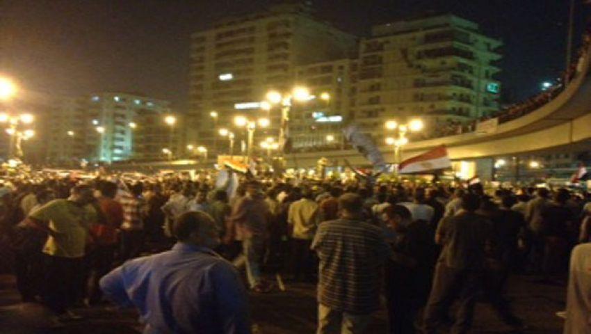 مسيرة مؤيدة لـالمعزول تصيب ميدان الجيزة بالشلل