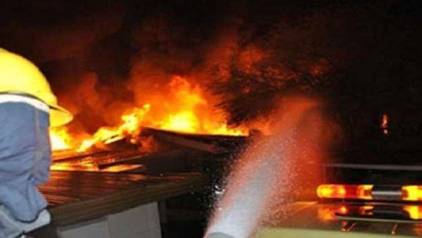 حريق بسكن أطباء مستشفى الفيوم العام
