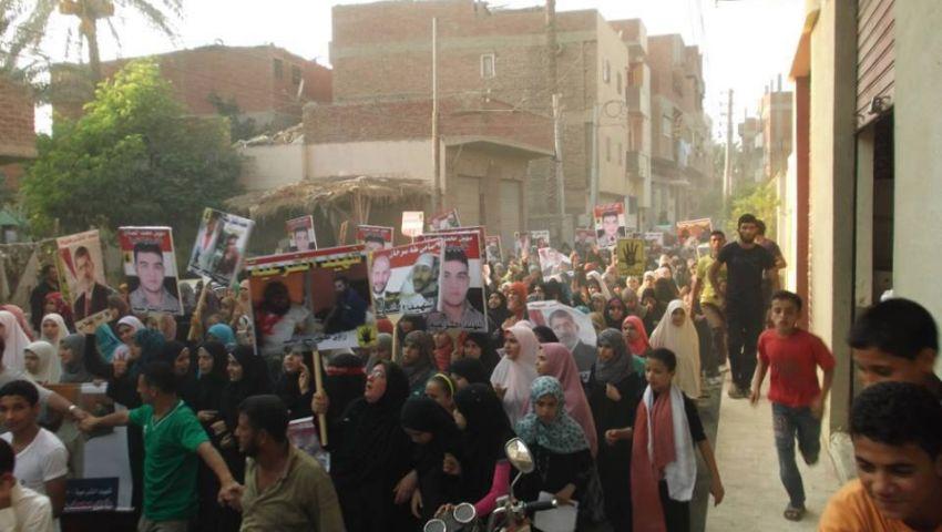 الاعتداء على مسيرة رفض الانقلاب بالقرين بالشرقية