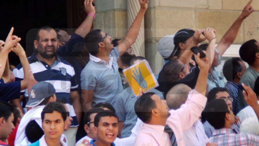 مشادات بين مؤيدي ومعارضي مرسي في 6 أكتوبر