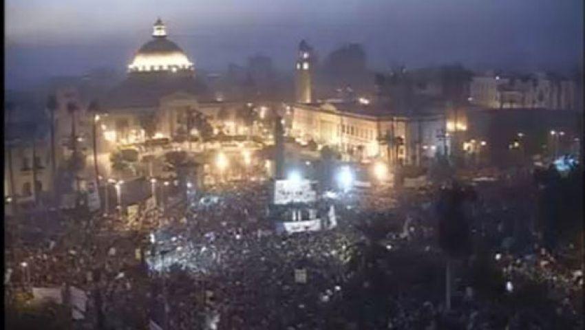 ميدان النهضة : يرفض بيان القوات المسلحة ويهتف ضد العسكر