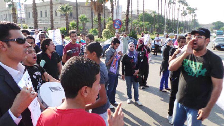 العشرات يتظاهرون بجامعة القاهرة تذكيرا بالقصاص لـكريستي