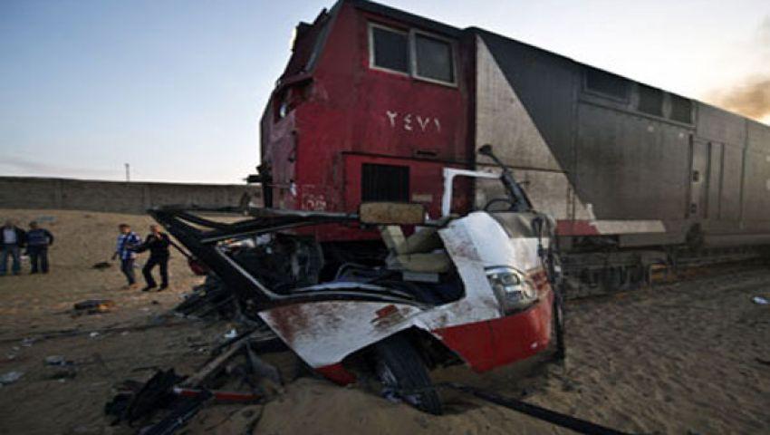 وقفة لتأبين ضحايا قطار دهشور بالفيوم