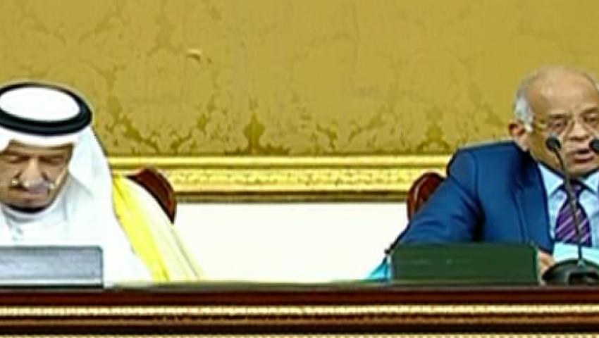 فيديو.. رئيس البرلمان يخطئ في تلاوة آية خلال ترحيبه بسلمان