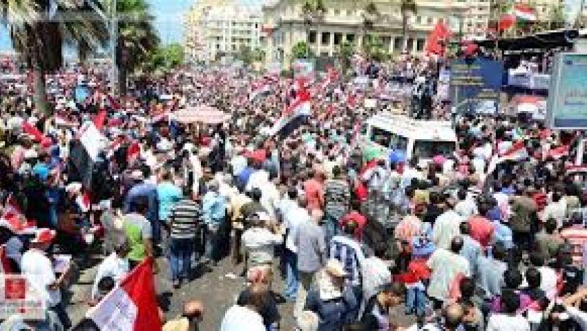مسيرات أنصار مرسي تخرج من الأحياء النائية