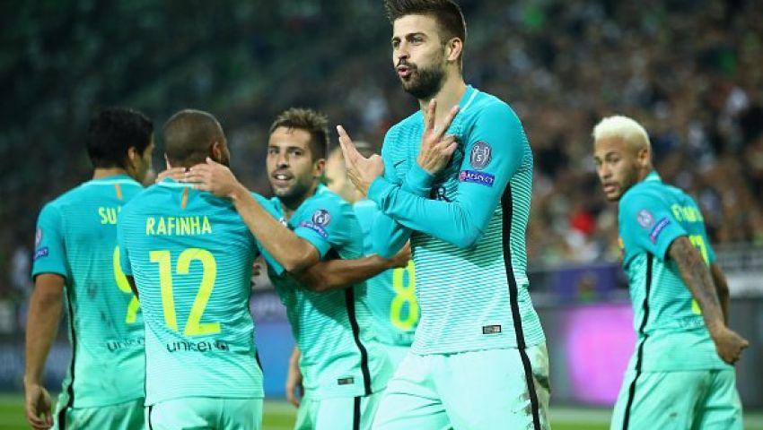 برشلونة يهزم مونشنجلادباخ بهدفين لهدف ومانشستر سيتي يتعادل مع سيلتك