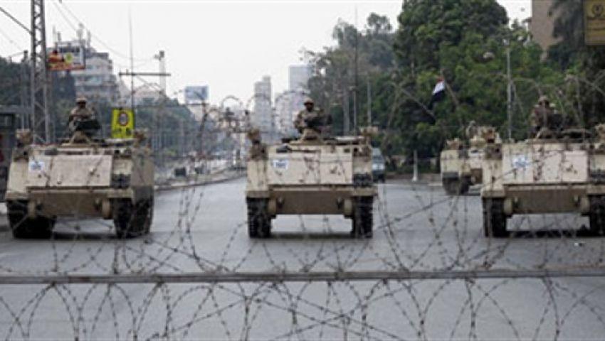 الجيش يغلق مداخل رابعة العدوية