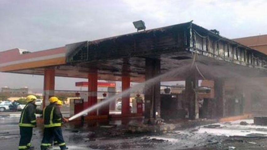 إصابة 17 في حريق محطة بنزين بالمنيا