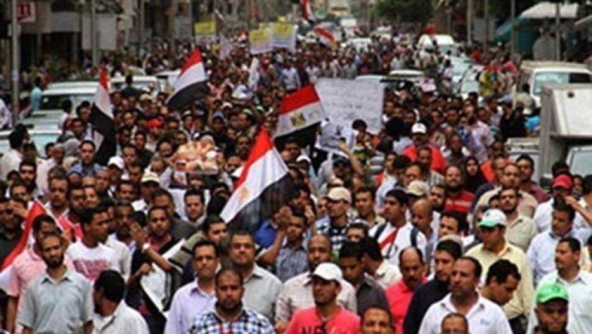 الآلاف ببني سويف يحتجون على عزل مرسي
