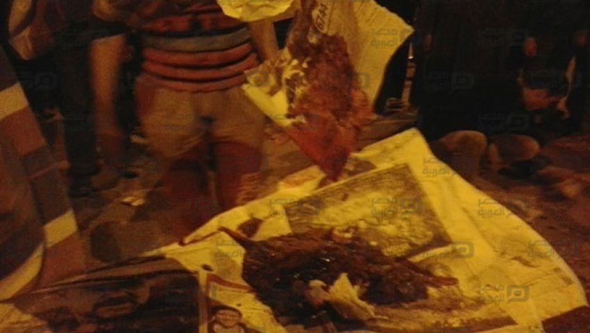 ننشر صور آثار انفجار قنبلة أسوان وعملية جمع الأشلاء