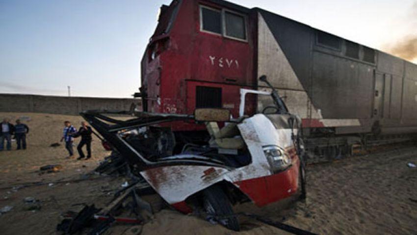 أسقف الفيوم يزور مصابي قطار دهشور بمستشفى الهرم