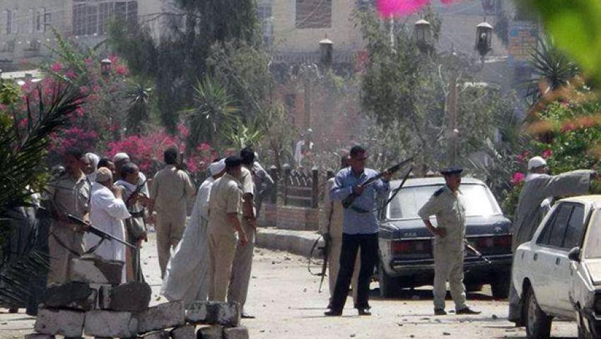 تبادل لإطلاق النار بين الأمن ومجهولين أمام قسم الفيوم