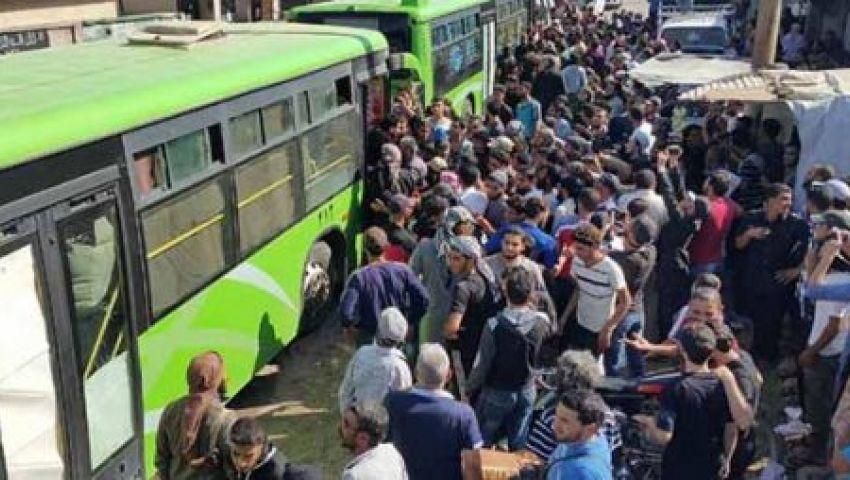 شاهد..  خروج الدفعة الثانية من مسلحي حي الوعر بسوريا