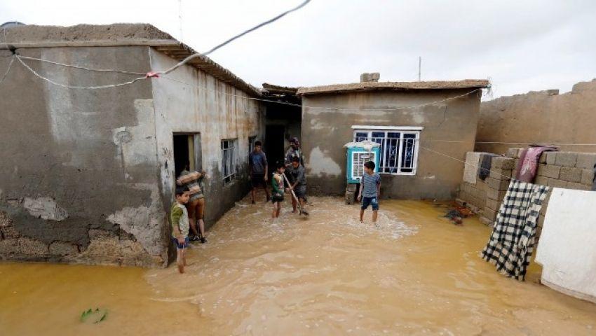 بسبب السيول والفساد الحكومي..العراق يتنفس تحت الماء