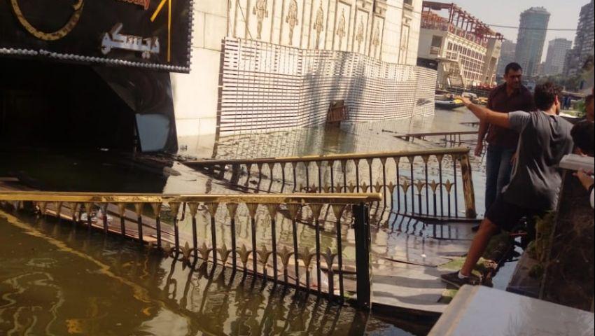 بالصور| غرق باخرة « جولدز جيم » فى النيل «القصة الكاملة»