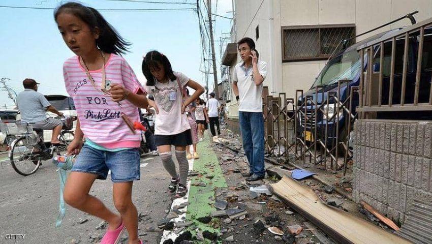 إعصار عنيف يضرب جنوب اليابان