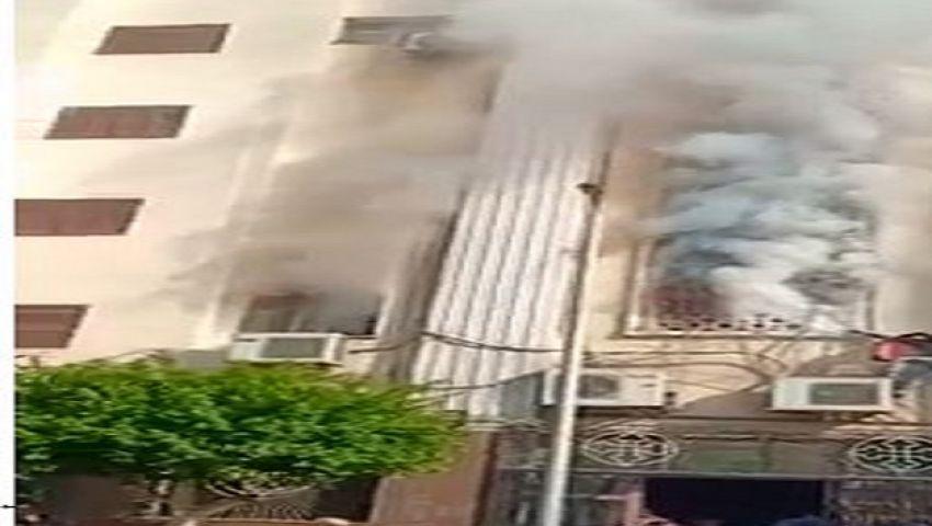 صور| إخماد حريق بكنيسة مارجرجس الجيوشي بشيرا