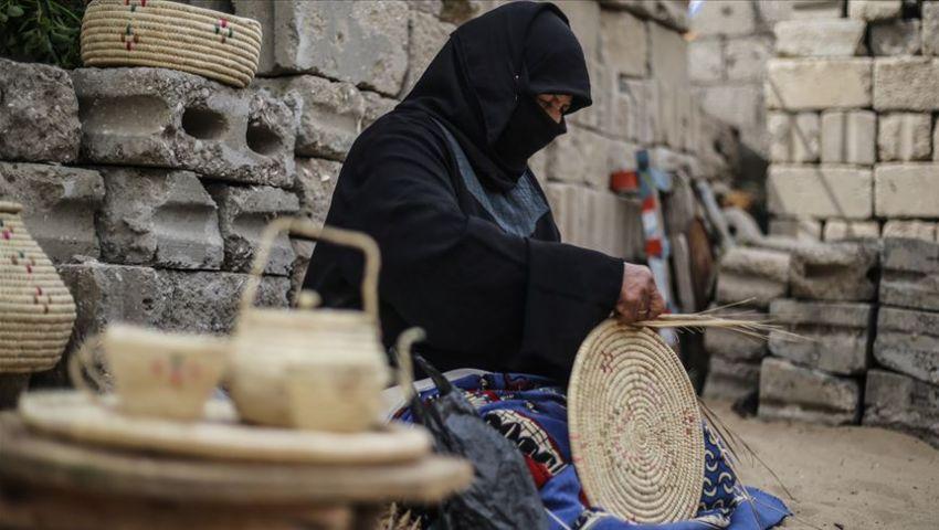 فيديو| أطباق «الخوص»..  تراث فلسطيني «يجلب» الرزق