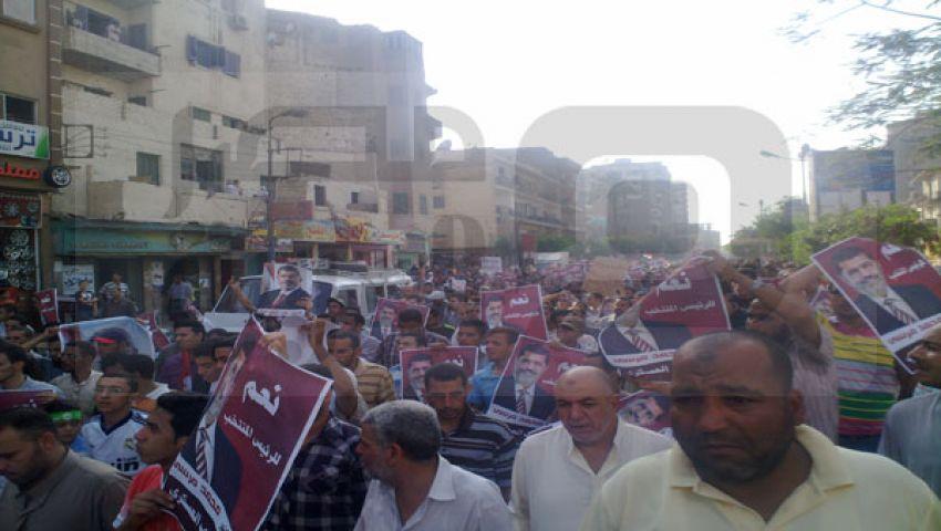 الآلاف يتظاهرون بالفيوم تنديدًا بمجزرة الحرس الجمهوري