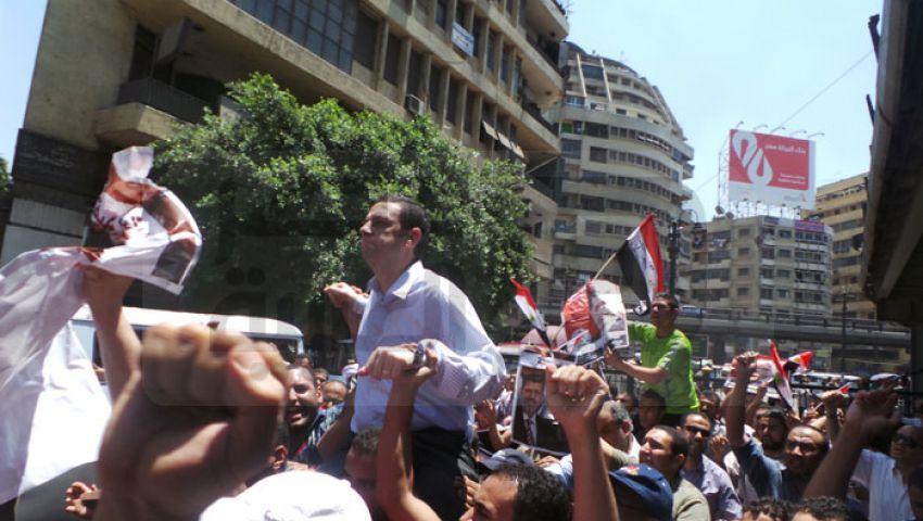 مسيرة طلابية فى جامعة القاهرة لرفض الانقلاب