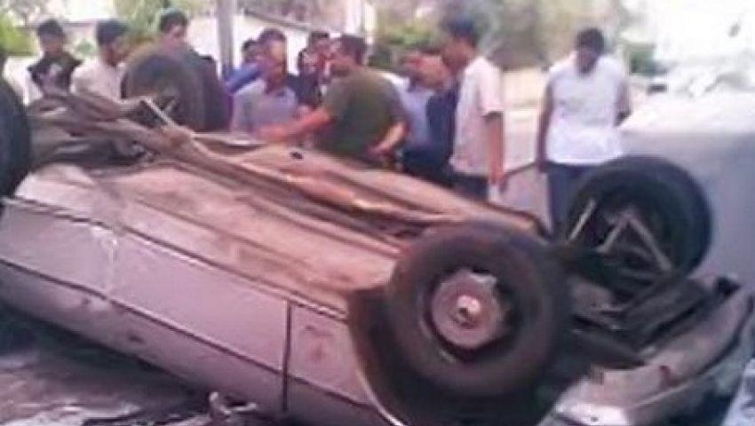 مصرع وإصابة 7 في انقلاب سيارة ميكروباص باسيوط