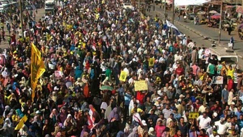 فيديو.. مسيرة الزاوية الحمراء: السيسي هو الإرهابي
