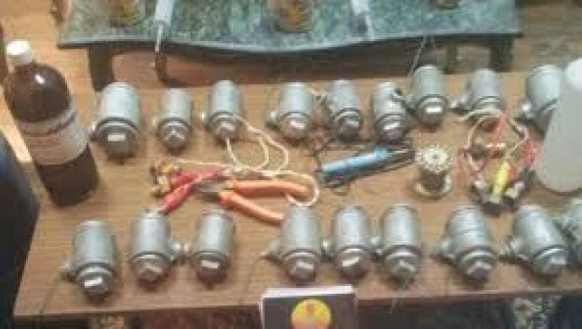 حبس متهم بالبدرشين حول منزله لمصنع متفجرات