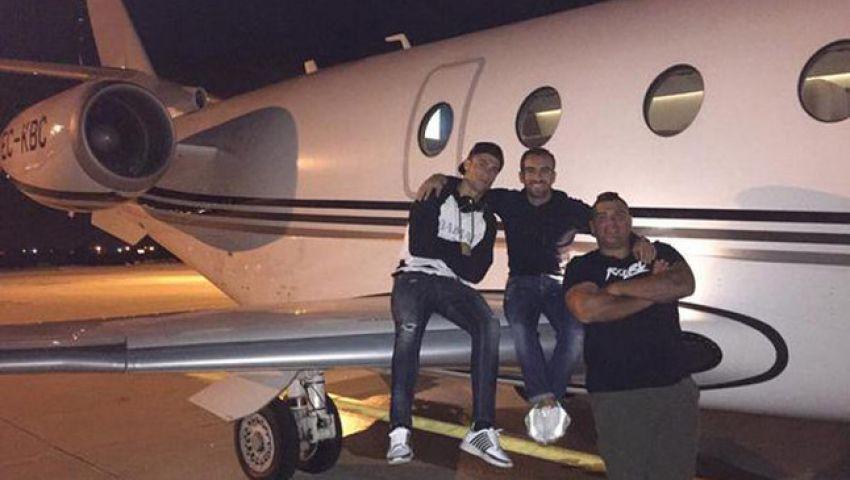 طائرة كريستيانو رونالدو الخاصة تتعرض لحادث في برشلونة
