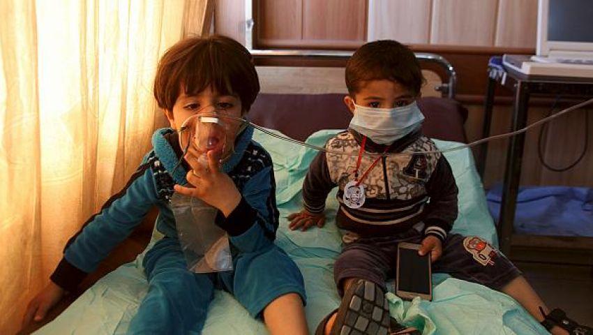 حالات تسمم نتيجة قصف مصنع متفجرات لداعش بالموصل