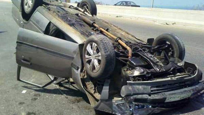 إصابة 12 شخصًا في حادث سير بالمنيا 