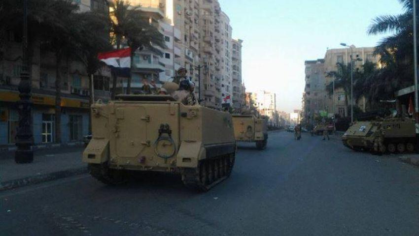 الهدوء يسود دمنهور وقوات الجيش تؤمن مبنى المحافظة المحترق