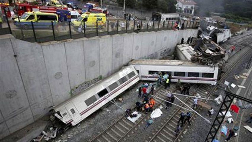 ارتفاع عدد قتلى حادث القطار الإسباني إلى 56