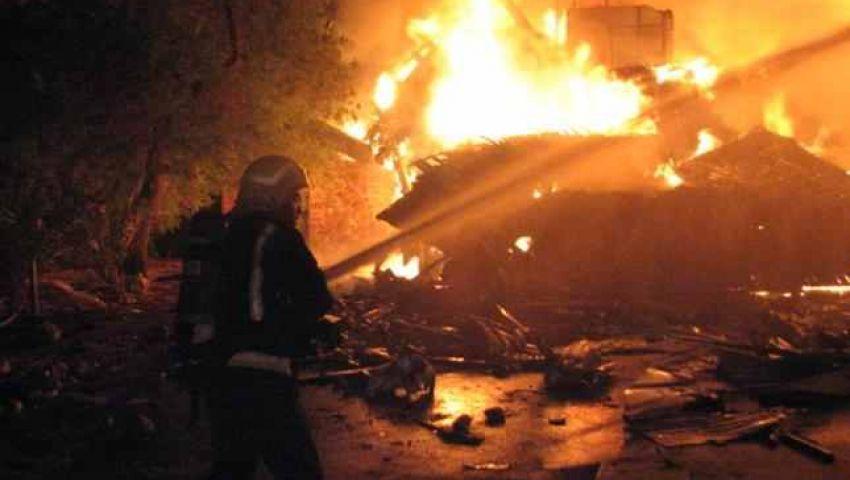 إصابة 24 شخصًا في حريق مصنع حرير بكفر الدوار