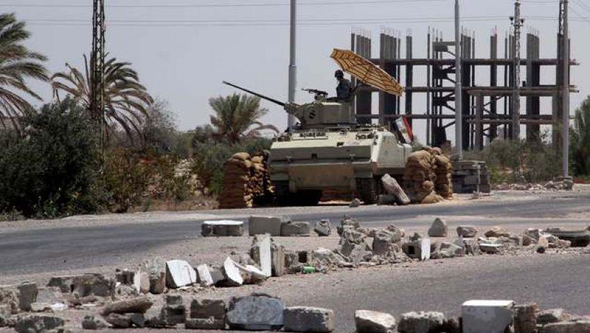 انفجار عبوة ناسفة على طريق مدرعة للجيش بشمال سيناء