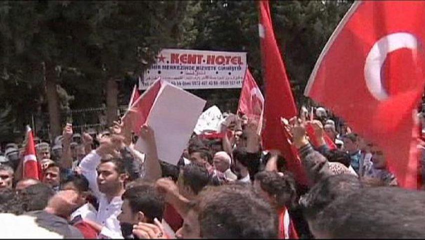 تركيا.. تظاهرة حاشدة احتجاجًا على القتل بمصر وسوريا