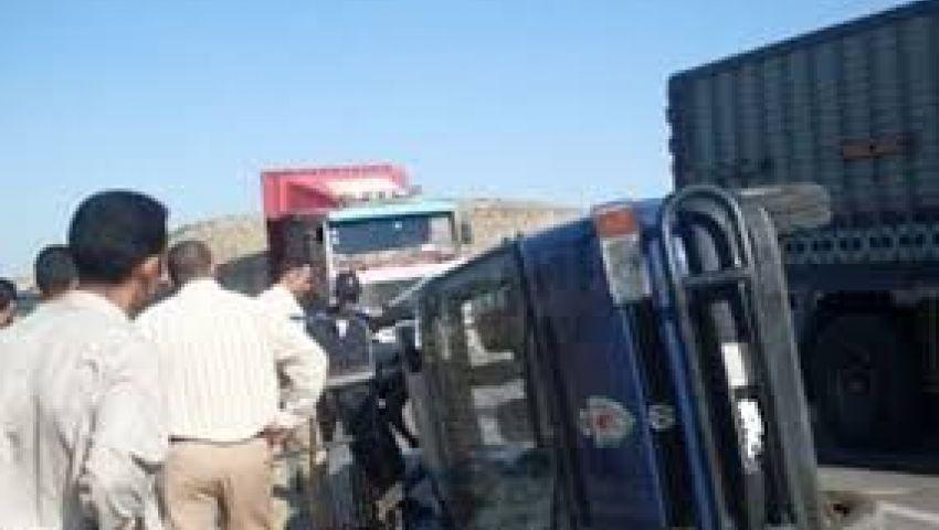 إصابة 4 من رجال الشرطة في حادث سير بالإسماعيلية