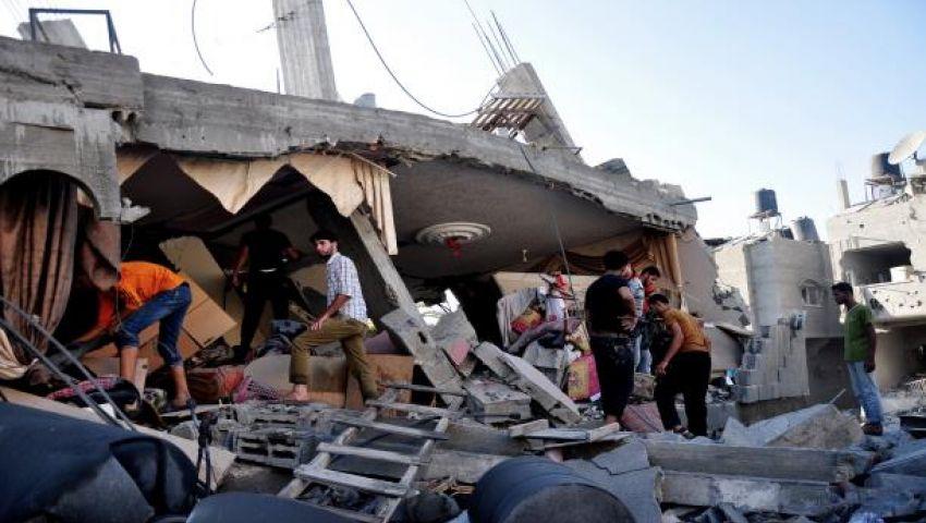 أنقاض المنازل بغزة.. مأوى لاحتماء أصحابها من الشتاء