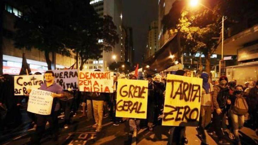 تجدد الاحتجاجات بالبرازيل ضد الانفاق الحكومي على  القارات