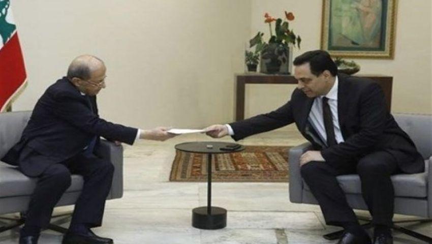 فيديو| بعد استقالة حكومة لبنان.. كواليس اللقاء الأخير بين عون وحسان دياب