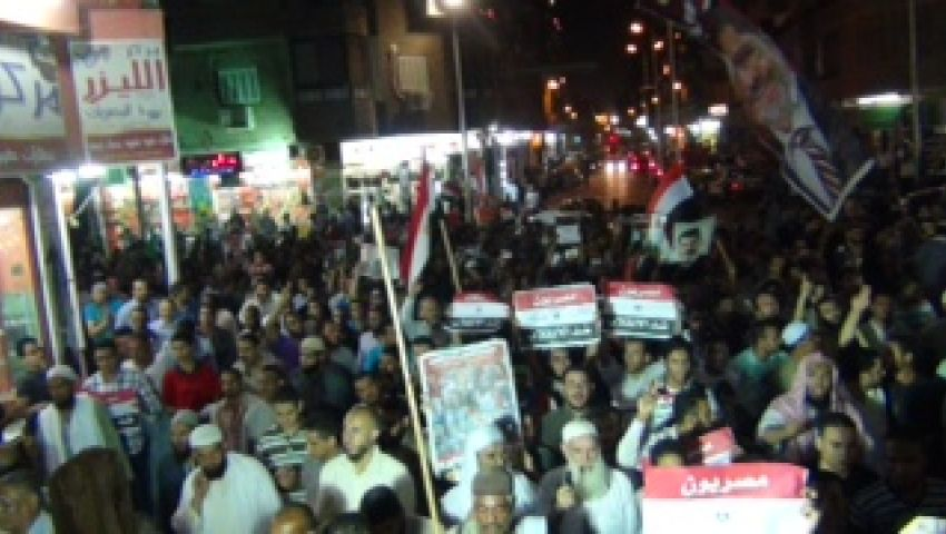 10 آلاف يتظاهرون لدعم الشرعية في أسيوط