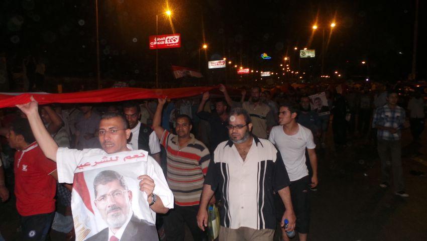 مسيرة لأنصار مرسي من رابعة إلى كوبرى إكتوبر