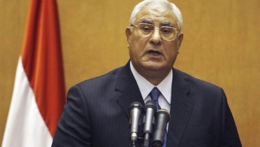 عدلى منصور يتبادل برقيات التهنئة مع رؤساء الدول