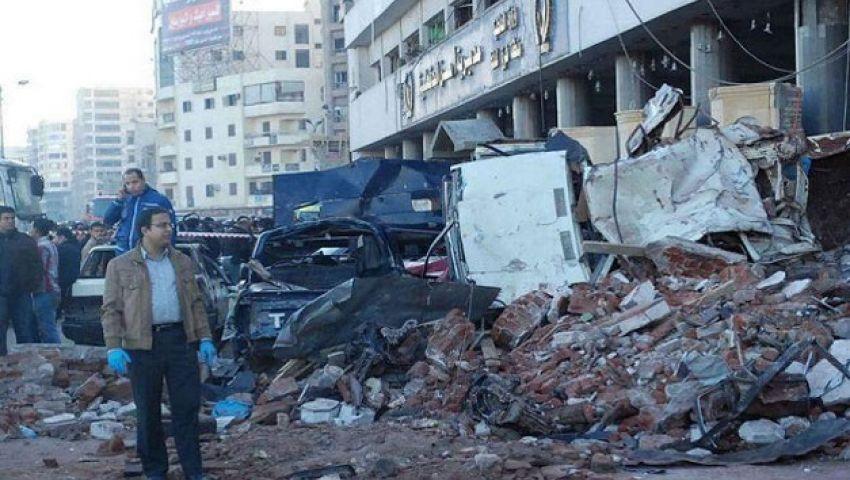 صلاة الغائب على ضحايا تفجير الدقهلية بدمياط