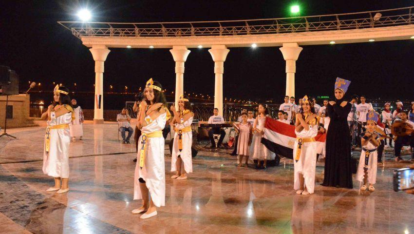 بالفيديو والصور ... تعليم المنيا يقيم حفل فني إحتفالاً بقناة السويس