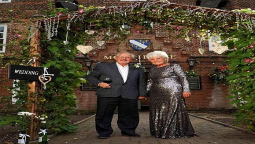 مُسنَّان بريطانيان يتزوجان مجددًا بعد طلاق 58 عامًا