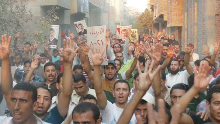 مسيرة لأهالي الصف رفضًا للانقلاب العسكري
