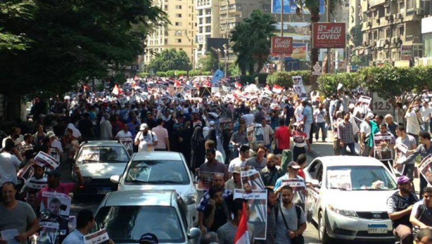 مؤيدو مرسي بالعباسية: السيسي كذاب.. إحنا مش إرهاب