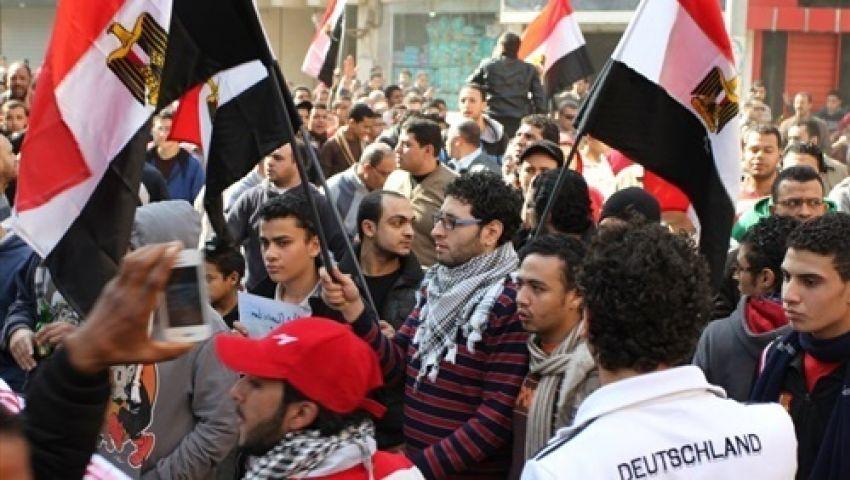 سيلا البلد بالفيوم تنظم مسيرة تأييد للجيش