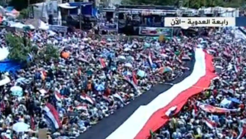 الآلاف يتدفقون على رابعة للمشاركة في مليونية الزحف